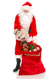 Santa has a gift for you Royalty Free Stock Images