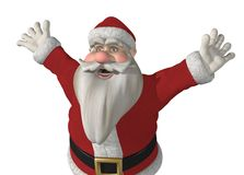 Santa has Somrthing Exciting to Say! Royalty Free Stock Images