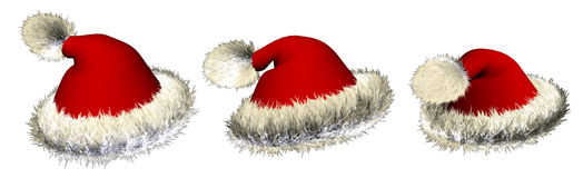 Santa_hat_02 Fotos de Stock Royalty Free