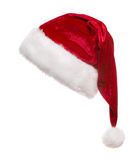Santa hat. Isolated on white background Stock Photos