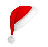 Santa hat. Red santa hat isolated on white Stock Photos