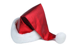 Santa hat. On white background royalty free stock images