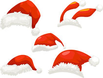 Santa hat. Set  illustration on a white background Royalty Free Stock Photography