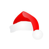 Santa hat. Isolated on white background Royalty Free Stock Photo