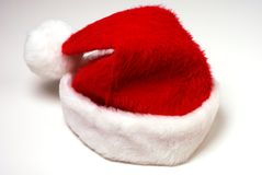 Santa Hat. Santa Claus hat on a white background Royalty Free Stock Photos