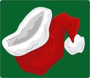 Santa hat. A big red christmas santa hat stock illustration