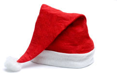 Santa hat. Isolated on white background Stock Photography