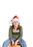 Santa Hat. 8 Year old girl in a santa hat Stock Images