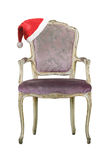 Santa hat on armchair Royalty Free Stock Images