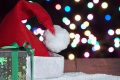 Santa Hat Background Fotografía de archivo