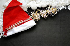 Santa Hat on Background with Copyspace Royalty Free Stock Photo