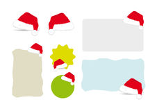Santa Hat Banners Stock Photo