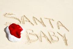 Santa Hat on the Beach Stock Photos
