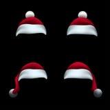 Santa hat black background Royalty Free Stock Images