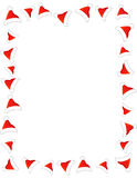 Santa hat border / frame Royalty Free Stock Images