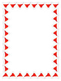 Santa hat border / frame royalty free stock photography