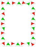 Santa hat border / frame royalty free stock image