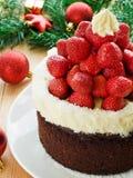 Santa hat cake Stock Image