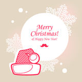 Santa hat Christmas card Stock Photos