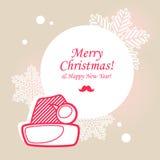 Santa hat Christmas card Stock Photos