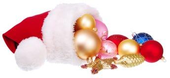 Santa hat and Christmas decorations Royalty Free Stock Image