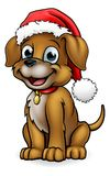 Santa Hat Christmas Dog Illustration Libre de Droits