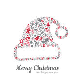 Santa hat and christmas icon vector illustration Royalty Free Stock Photography