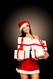 Santa hat Christmas woman Royalty Free Stock Images
