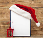 Santa hat on clipboard Royalty Free Stock Photo