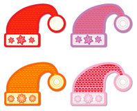 Santa hat collection Stock Photo