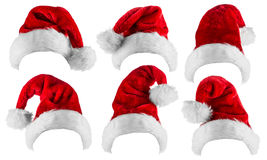 Santa hat collection Royalty Free Stock Photos