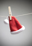 Santa hat on cord Royalty Free Stock Image