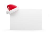 Santa hat 3d  on white. Santa hat 3d  on a white background Royalty Free Stock Photos