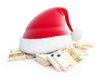 Santa hat euro Royalty Free Stock Photo