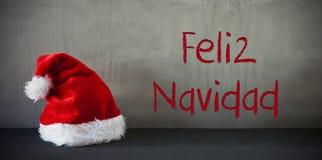 Santa Hat, Feliz Navidad Means Merry Christmas images libres de droits
