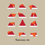 Santa hat flat icon Royalty Free Stock Photography