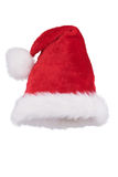 Santa hat with folded tip isolated on white Royalty Free Stock Image