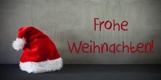 Santa Hat, Frohe Weihnachten bedeutet frohe Weihnachten Stockfotografie