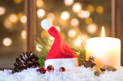 Santa hat greeting card Stock Photography