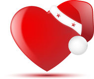 Santa hat heart Stock Photo