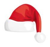 Santa hat illustration. On white Royalty Free Stock Photography