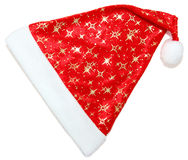 Santa hat isolated. On white background with clipping path Royalty Free Stock Photos
