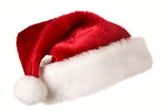 Santa hat isolated on white Stock Images