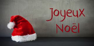 Santa Hat, Joyeux Noel Means Merry Christmas Photographie stock