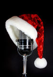 Santa Hat on Microphone Stock Images