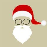 Santa hat, mustache, beard Royalty Free Stock Photo