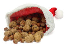 Santa hat with nuts Stock Photography