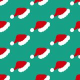Santa hat pattern Stock Photo