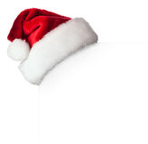 Santa hat on poster Stock Photos