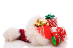 Santa Hat with Presents Stock Images